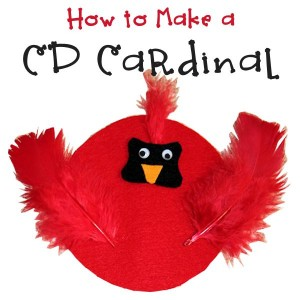 How to Make a Cardinal Using an Old CD