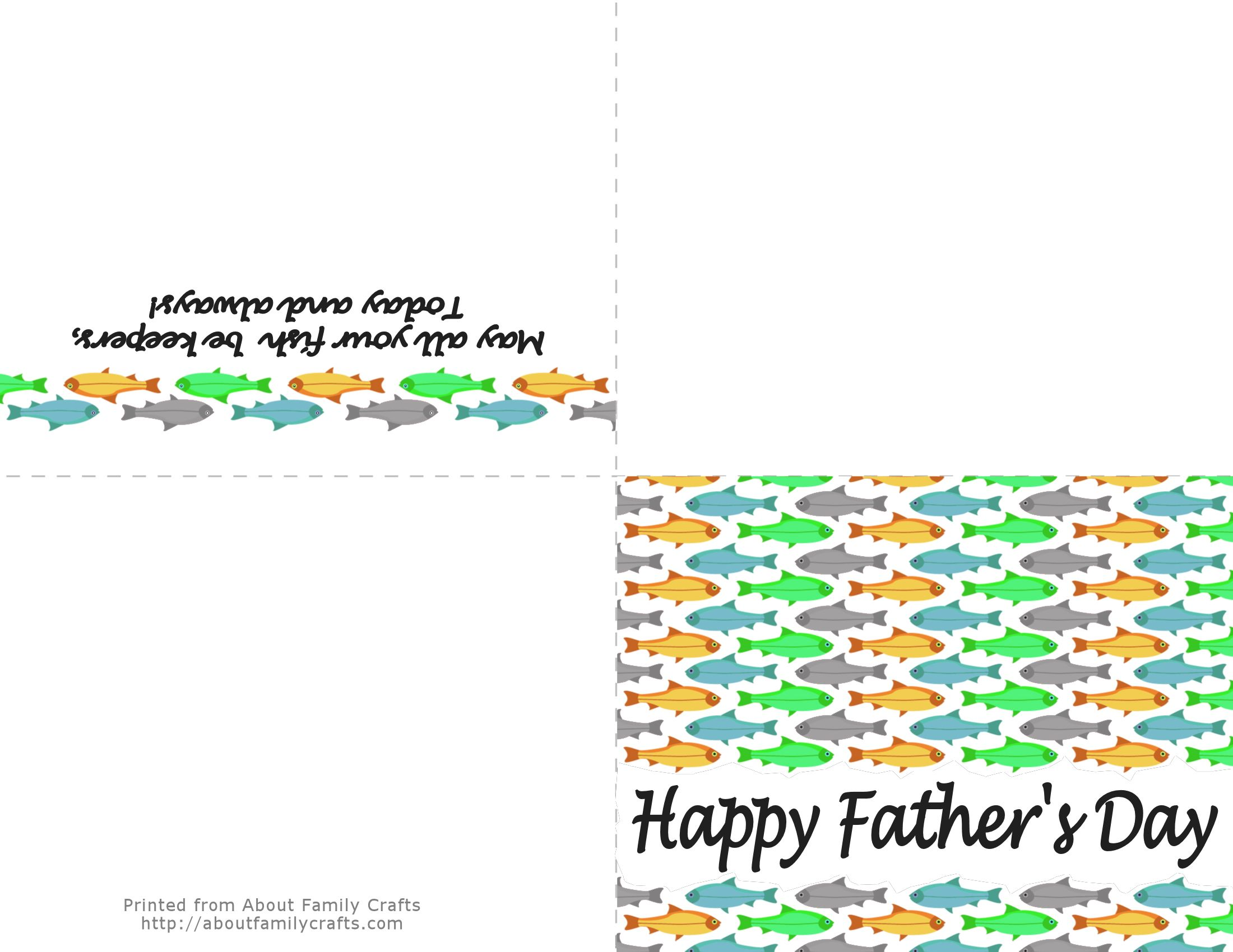 graphic relating to Father's Day Printable Card identify 5 Printable Fathers Working day Playing cards Around Relatives Crafts