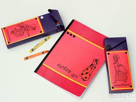 DIY Colorful Vintage Pencil Cases