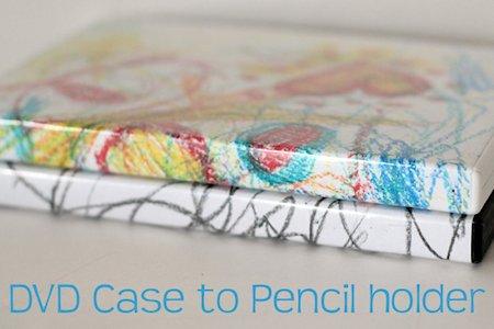 DVD Case Pencil Holder