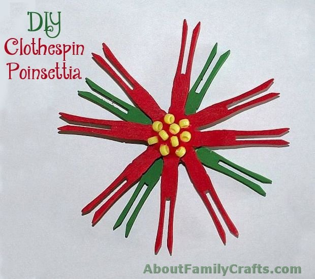 DIY Clothespin Poinsettia