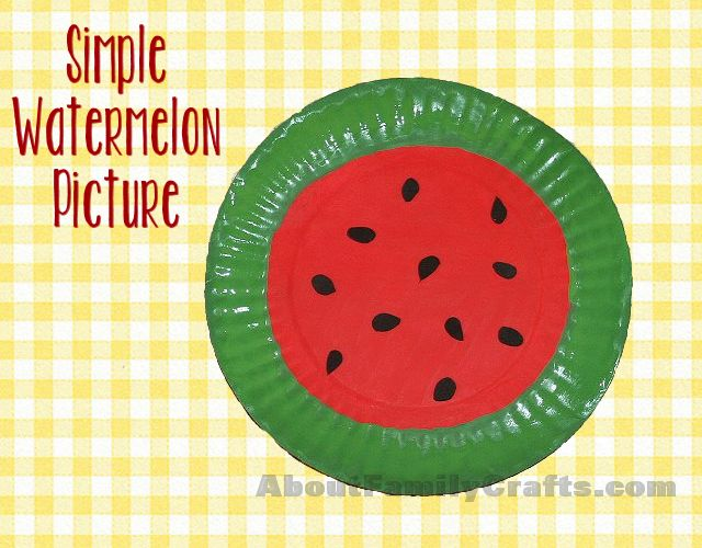 How to Make a Simple Watermelon Picture