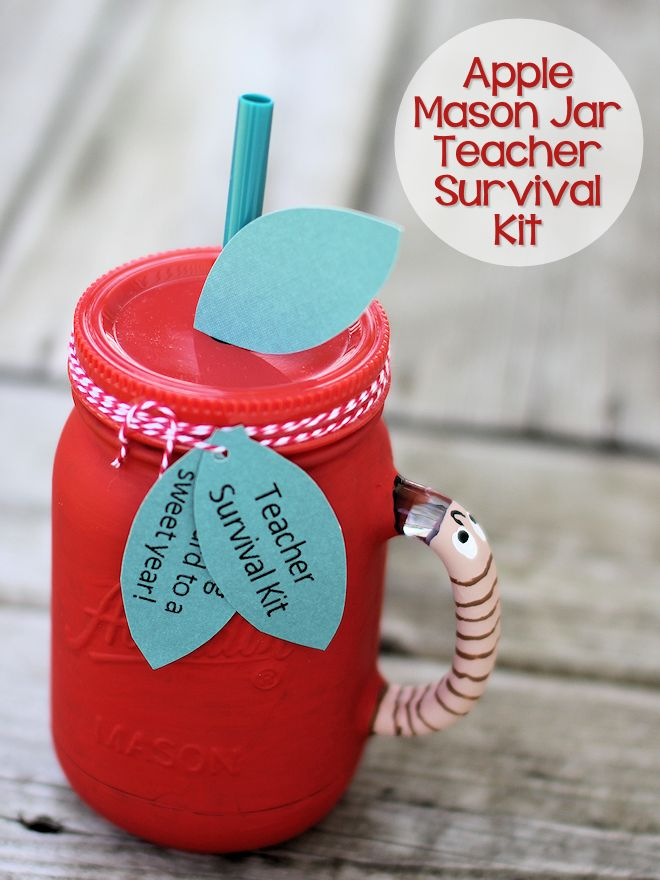 Apple Mason Jar Survival Kit