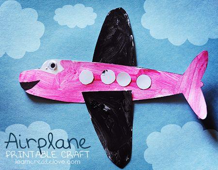 Printable Airplane Craft