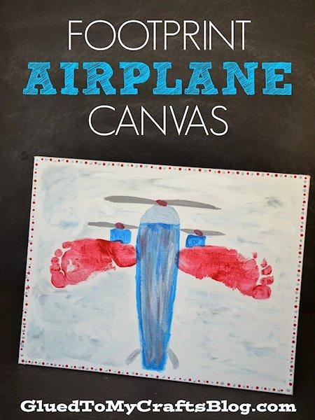 Footprint Airplane Canvas