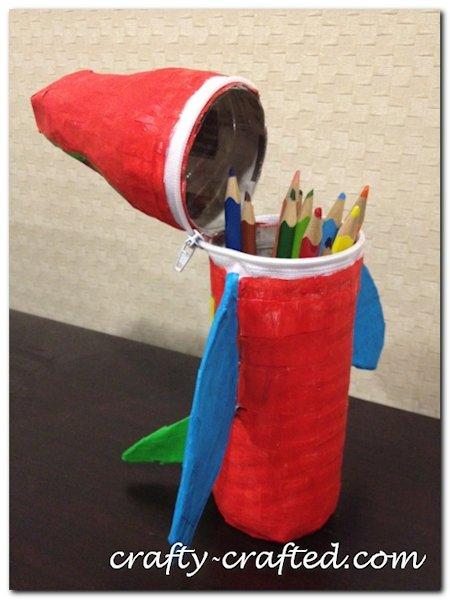Bottle Pencil Case Airplane