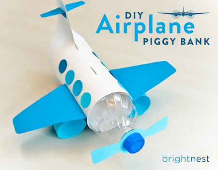 DIY Airplane Piggy Bank