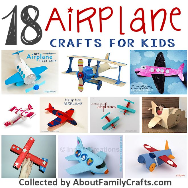 18 airplane crafts for kids about family crafts 18 airplane crafts to make sciox Choice Image