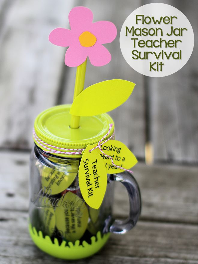 Flower Mason Jar Survival Kit