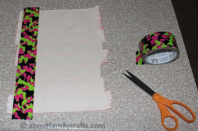 Make a Second Layer of Duct Tape to Make a Pencil Case