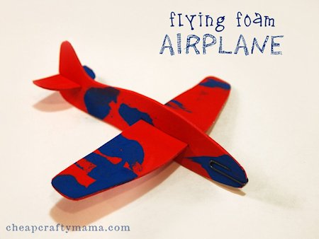 18 airplane crafts for kids about family crafts flying foam airplane sciox Choice Image