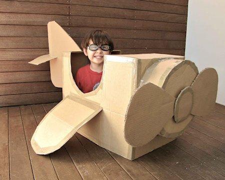 Cardboard Box Plane