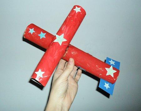 Cardboard Tube Airplane