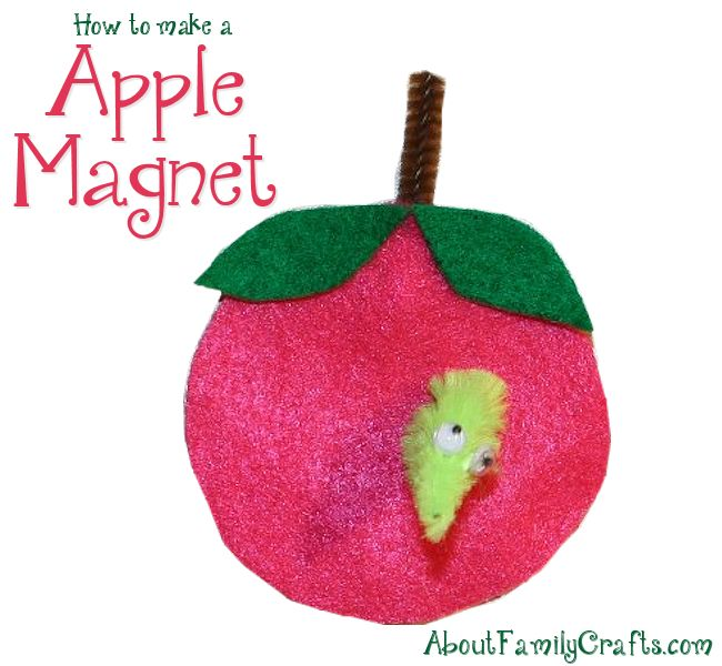 How to Make an Apple Magnet Craft