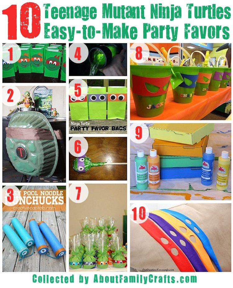 75+ DIY Teenage Mutant Ninja Turtles Birthday Party Ideas – About ...