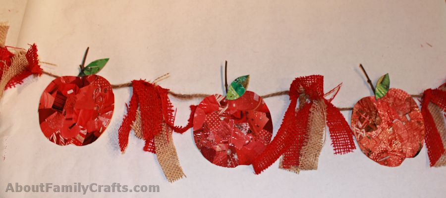 Completed Apple Bunting Craft