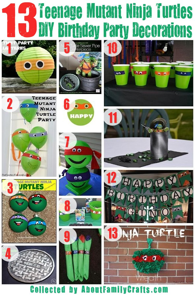 75 diy teenage mutant ninja turtles birthday party ideas about 13 diy tmnt party decorations solutioingenieria Images