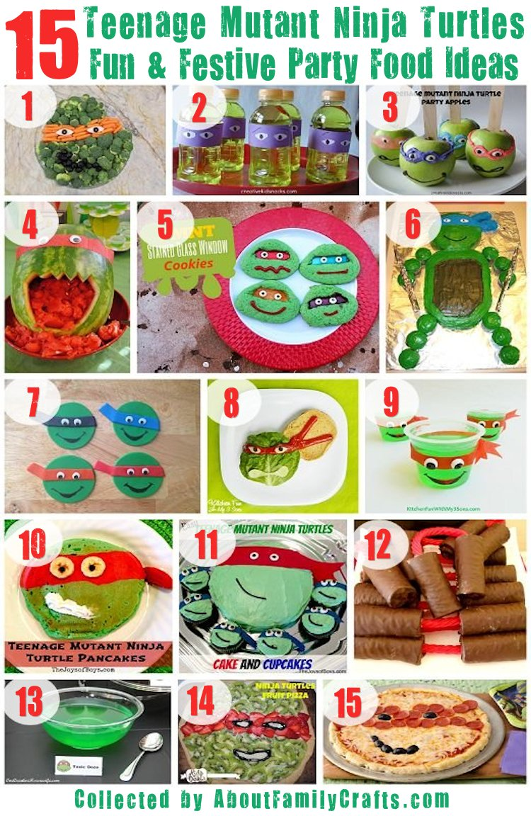 75 diy teenage mutant ninja turtles birthday party ideas about 15 fun tmnt party food ideas 1 ninja turtle solutioingenieria Images