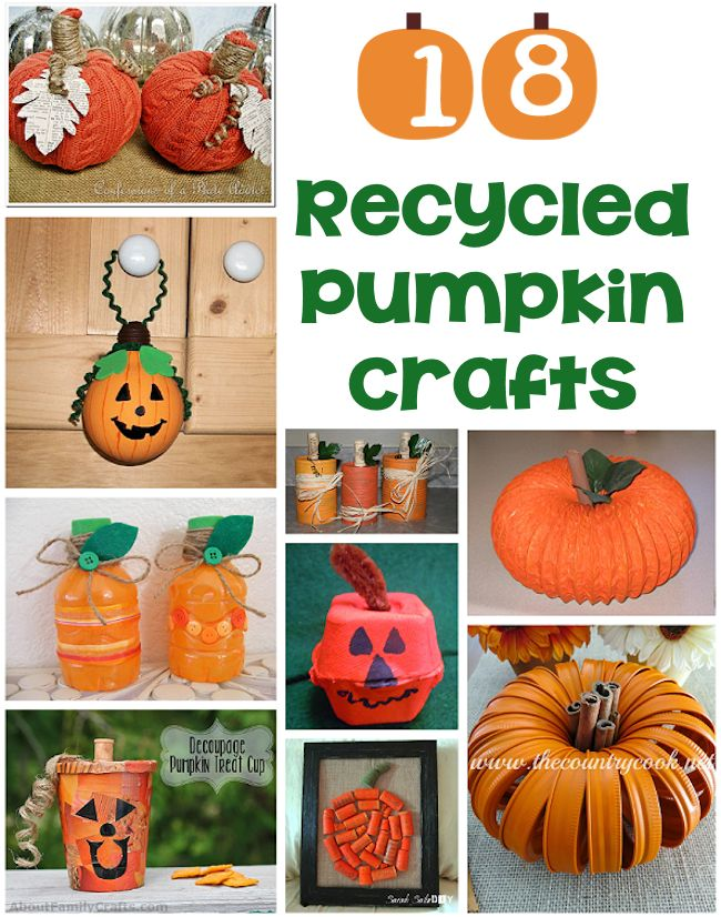18 Recycled Pumpkin Crafts