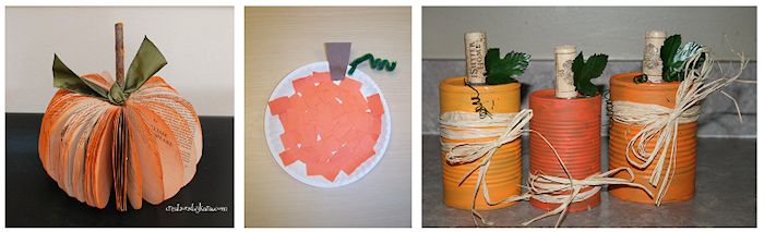 recycled pumpkins