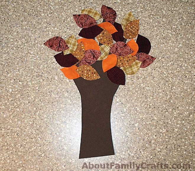 Fabric Leaves on Tree