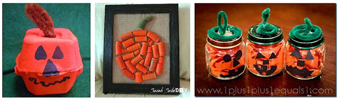 pumpkin crafts from recyclables