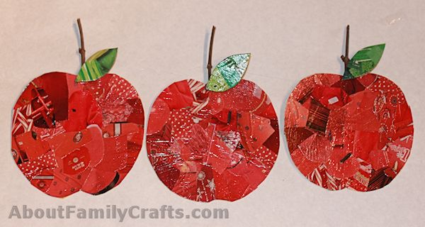 Glue Stems and Leaves Onto the Apples