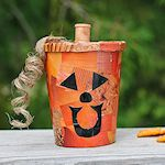 Decoupage Pumpkin Treat Cup 150