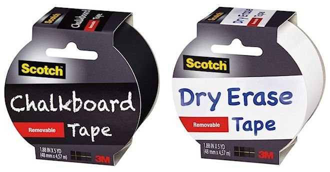 Scotch Removable Chalkboard and Dry Erase Tape