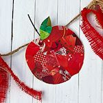 decoupage apple close up 150