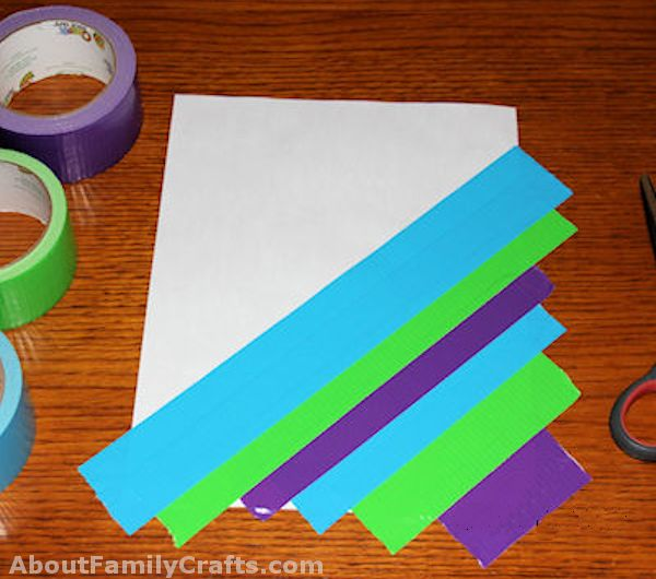 Make a duct tape sheet