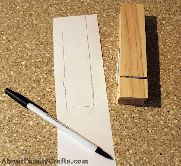 Trace paper onto paper clip
