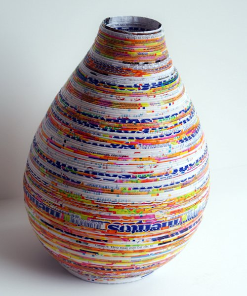 Candy Wrapper and Magazine Vase