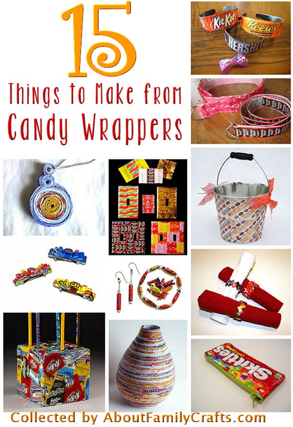 15 Candy Wrapper Crafts