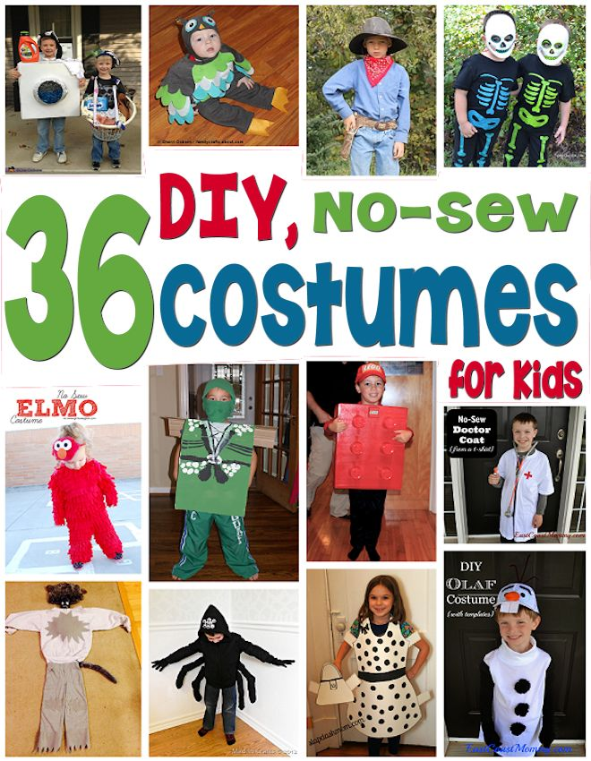 36 No Sew Costumes for Kids