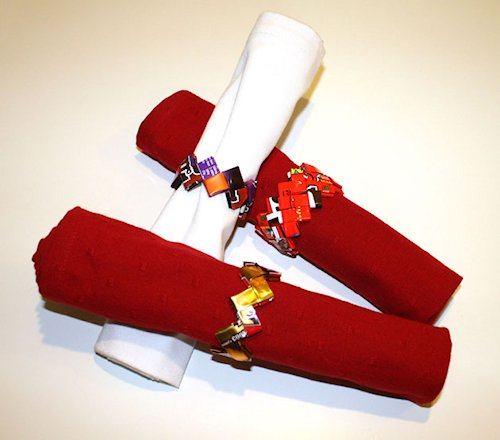 Candy Wrapper Napkin Rings