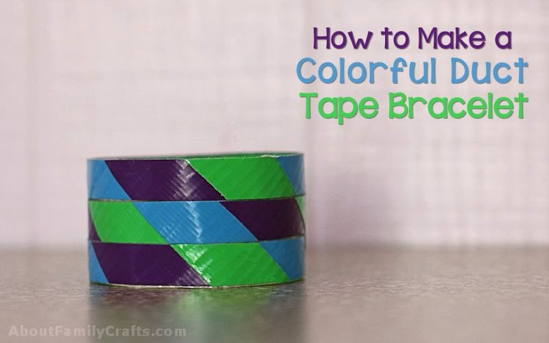 Colorful Duct Tape Bracelet 800