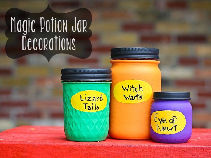 Magic Potion Jar Decorations