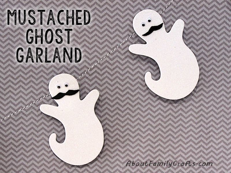 Mustached Ghost Garland