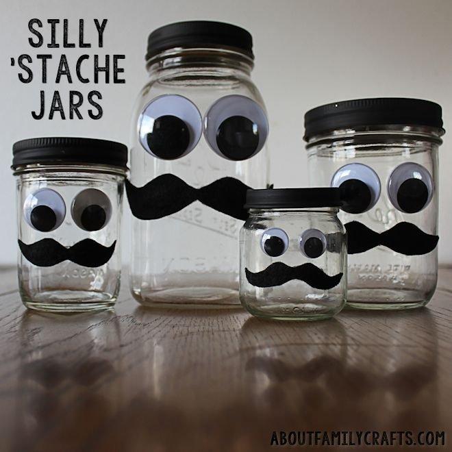Silly Stache Jar Craft