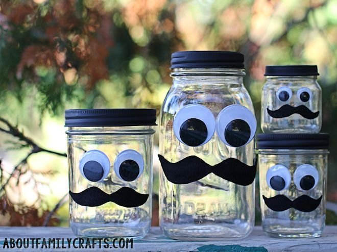 how to make a mustache jar