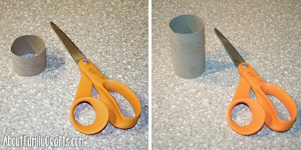 cut apart toilet paper roll