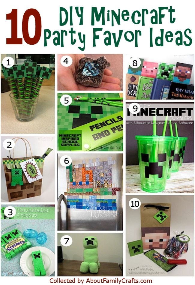10 DIY Minecraft Party Favor Ideas