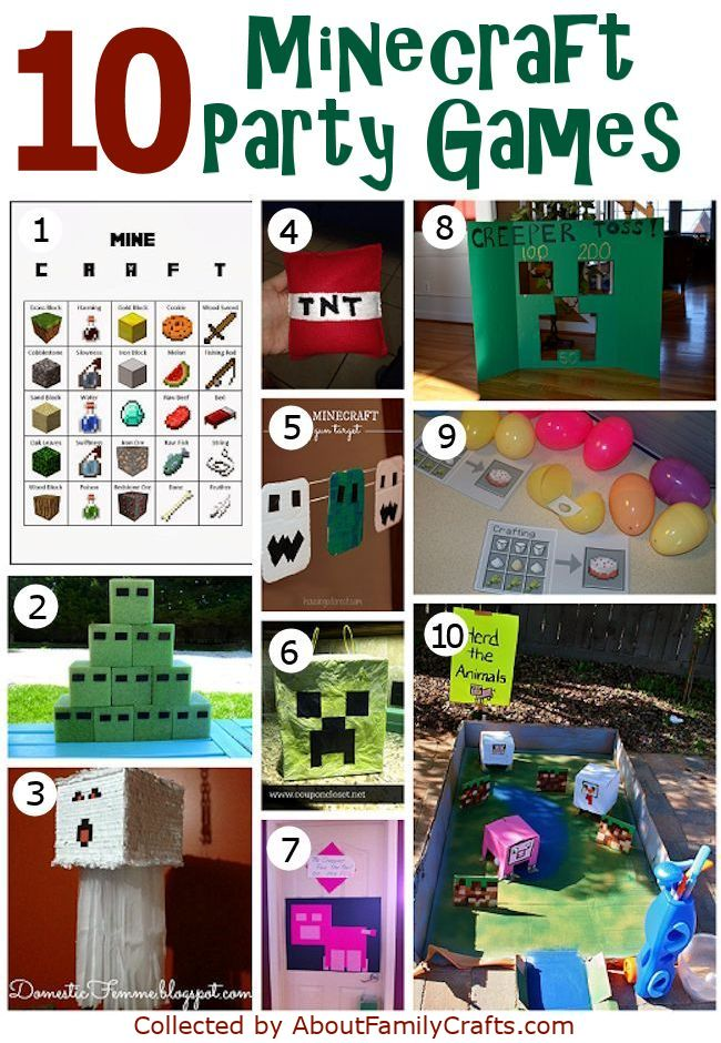 10 Minecraft Party Games