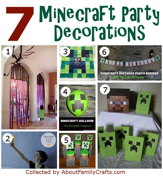 50 diy minecraft birthday party ideas about family crafts 7 minecraft party decorations solutioingenieria Images
