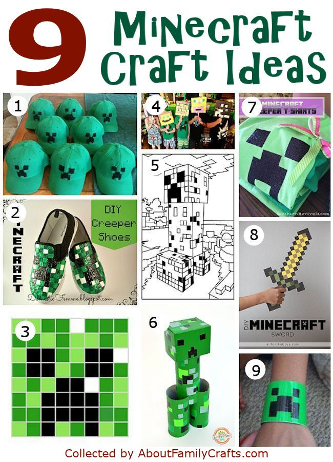 9 Minecraft Craft Ideas