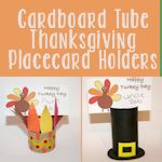 Cardboard Tube Thanksgiving Placecard Holders 150