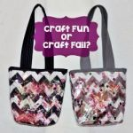 craft fun or craft fail mini totes 150