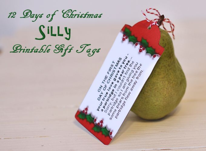 silly 12 days of christmas printable tags - How Many Gifts In 12 Days Of Christmas