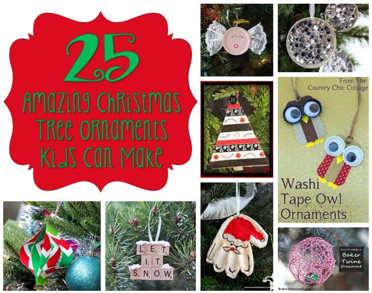 25 amazing christmas tree ornaments kids can make